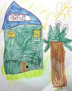 Dibujo de Clínica de Textos, por Rocío (5 años)