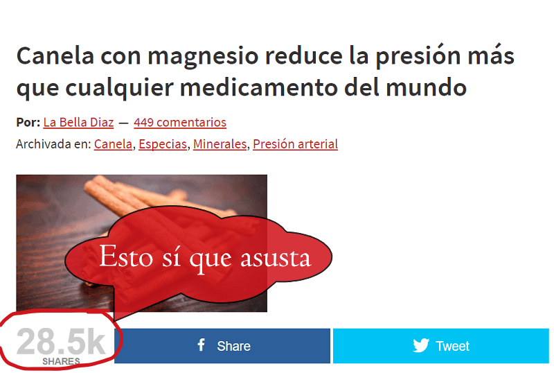 Canela con magnesio reduce la presión más que cualquier medicamento del mundo