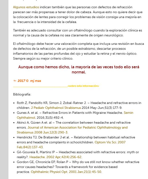 Artículo médico con referencias bibliográficas