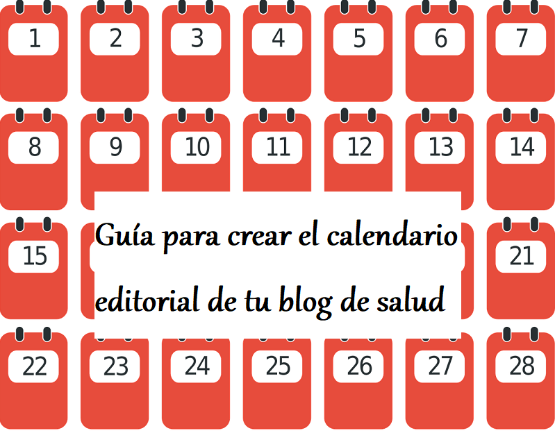 Calendario Editorial Para Blog De Salud