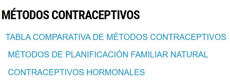 Contraceptivos
